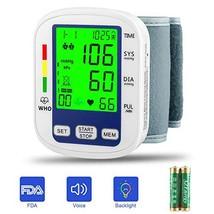 Wrist Blood Pressure Monitor,MOICO Voice Broadcast Automatic Digital Blood Press