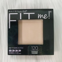 Maybelline Fit Me Set and Smooth Pressed Face Powder #120 Classic Ivory New - $4.99