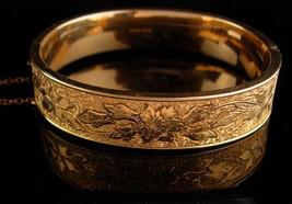 1900s Victorian bracelet - antique gold filled bangle - Antique bracelet 12kt  image 2