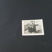 Vintage Photo Beautiful Young Family On Driveway - $2.48