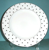 "Kate Spade LARABEE ROAD Platinum Dinner Plate 10.75"" Polka Dots - $19.90"