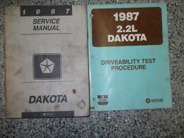 1987 dodge dakota truck workshop repair service manual set with driveability - $14.79