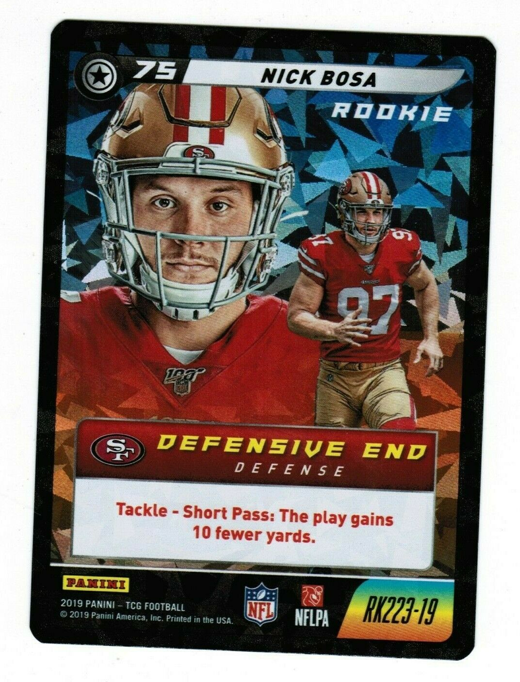 Primary image for Nick Bosa 2019 Panini NFL Five Cracked Ice Rookie RK223 CCG TCG 49ers