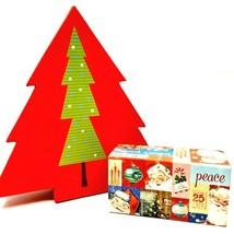 Cardboard Christmas Tree Shaped Container & Santa Claus Holiday Music Box - $12.99