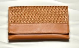 Cole Haan Parker Weave Leather Envelope Clutch Bag Pick Your Color - $98.00