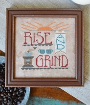 Rise and Grind #8 Cool Beans series cross stitch chart Hands On Design  - $5.40