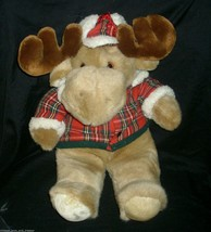 16 VINTAGE 1993 COMMONWEALTH CHRISTMAS MOOSTLETOE STUFFED ANIMAL PLUSH M... - $39.98