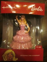 HALLMARK 2016 BARBIE PINK DRESS CHRISTMAS TREE ORNAMENT BRAND NEW IN BOX - $21.99