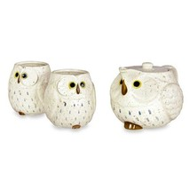 Owl Ceramic Tea Set Snow - $42.02
