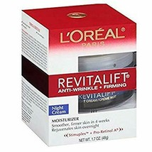 L'Oreal RevitaLift Anti-Wrinkle + Firming Night Cream Moisturizer 1.7 oz... - $33.66