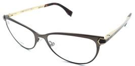 Fendi Rx Eyeglasses Frames FF 0024 7WG 53-16-140 Semi Matte Brown / Gold... - $117.60