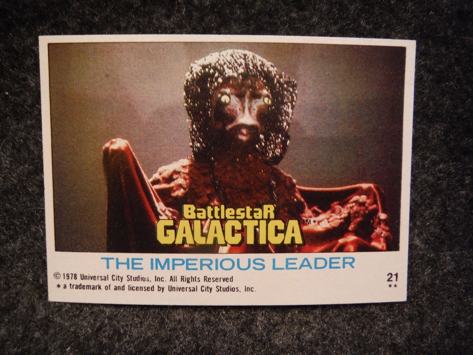 Imperious Trading Delf: Battlestar Galactica 1978 Topps Trading Card # 21 The