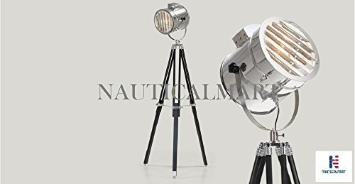 Primary image for NauticalMart Adjustable Tripod Spotlight Floor Lamp With Black Stand
