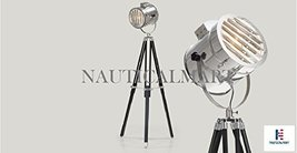 NauticalMart Adjustable Tripod Spotlight Floor Lamp With Black Stand - $167.31