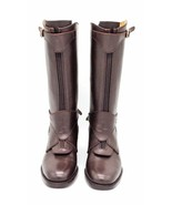 Dark Brown Handmade Leather Riding Boots Men Boots for Horse Riding Polo... - $388.90+