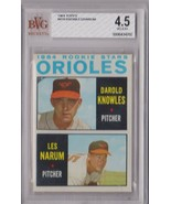 1964 Topps Baltimore Orioles Rookies Knowles Narum #418 BVG Beckett 4.5 ... - $9.75