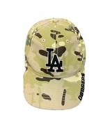 LA Dodgers MLB Green Camoflauge Adjustable Baseball Cap Ball Hat Fan Fav... - $15.88