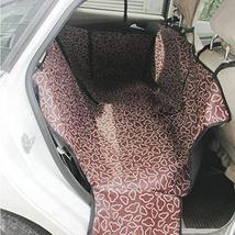 PANDA SUPERSTORE Waterproof Pet Car Seat Cover Dog Travel Mat for Rear Seat, Cof