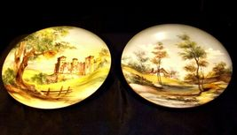 Bellagio Painted Italy Plates 10 inch AA19-1642 Vintage Pair image 9