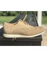 COLE HAAN CLASSIC GRAND II WINGTIP OXFORD SUEDE SIZE 7.5 NEW RETAIL $230... - $77.68