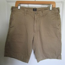 "J.Crew 9"" short in garment-dyed cotton twill Dark Khaki SIZE 32 Mens  - $13.99"