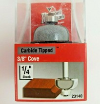 """Vermont American 23140, 3/8"""" Cove Router Bit, Carbide Tipped - $15.99"""