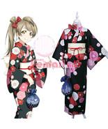LoveLive! Love Live Kotori Minami Kimono Yukata Dress Outfit Cosplay Costumes - $45.99