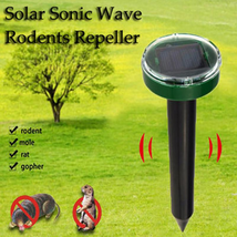 Solar Ultrasonic Gopher Mole Repeller Power Snake Mouse Pest Reject Eco ... - $15.47
