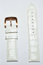 Original Tissot Quickster T095449A White Leather Watch Band Strap - $58.00
