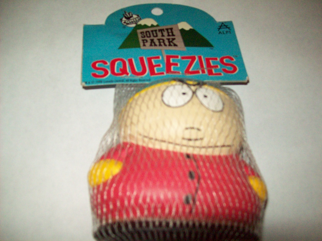 FREE SHIP cartman south park squeezie stress reliever new in bag with tag 3.5""