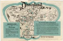 1955 Disneyland Map Brochure POSTER 24 X 36 Inches Looks beautiful Nostalgia - $19.94