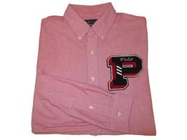 RALPH LAUREN Polo Mens Button-Down Varsity Patch Oxford Shirt Light Red M L XL  - $129.99