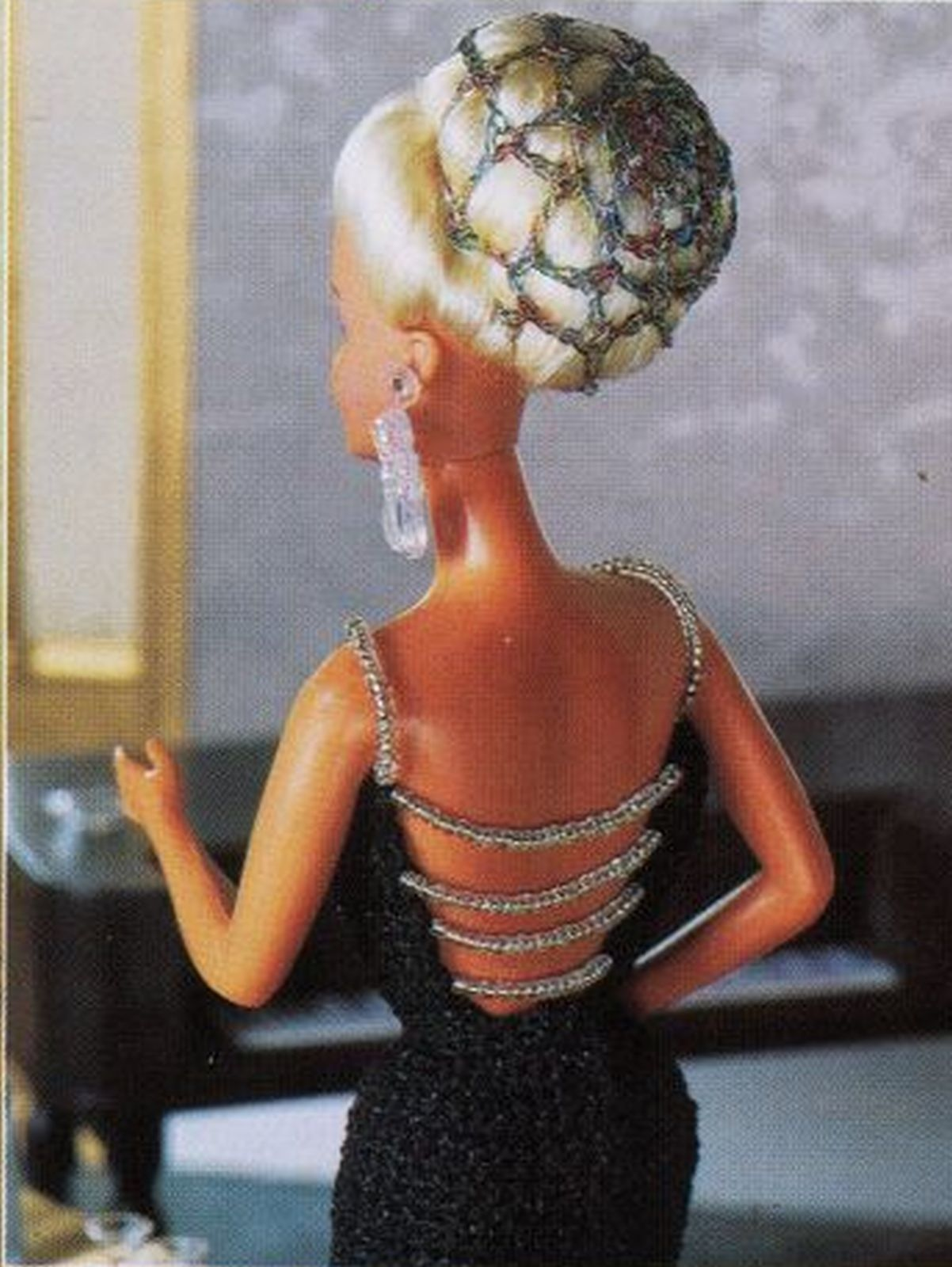 "Cocktail Evening Party Dress Gown Barbie 11-1/2"" Doll Clothes Crochet Pattern image 5"