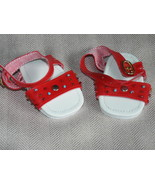 "American Girl or 18"" Doll Shoes; Red Buckle Sandals - $5.95"