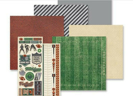 """Creative Memories 12x12 """"Gridiron"""" Theme Pack, w/paper, stickers, & card... - $13.95"""
