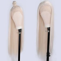 ENTRANCED STYLES Platinum Blonde Lace Front Wigs for Women Long Straight... - $40.73