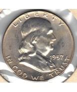 Nice Uncirculated 1957 D Franklin Half - $22.00