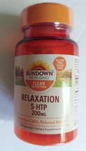 Sundown Naturals 5-HTP 200 mg 30 Capsules Supports a Calm Relaxed Mood E... - $9.89