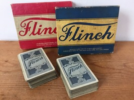 Pair Vintage 1930s Parker Brothers Flinch Card Game Original Box W/ Instructions - $47.99