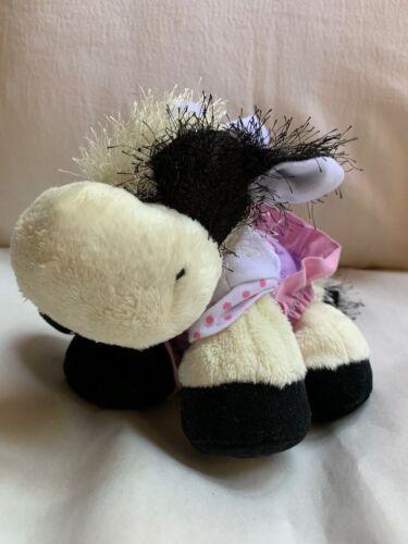 WEBKINZ COW - HM 003 - Used W No Tag Nice Clean Animal Toy Doll ganz