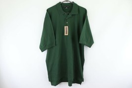 NOS Vintage 90s Nike Golf Mens Large Tall Tiger Woods Polo Shirt Hunter Green - $59.35