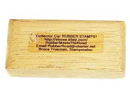 Collector Car Rubber Stamps 1957 Lincoln Continental Sunliner Rubber Stamp image 2