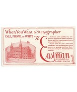 Eastman vintage advertising blotter Poughkeepsie New York stenographer - $4.50
