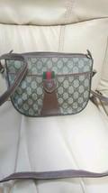 GUCCI Shoulder Bag Sherry Line GG Logo Women's Old Vintage 1980 Rare Fro... - $415.00