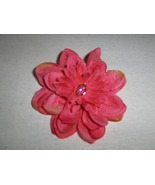 Chiffon Flower Hair Barrette Handmade  - $3.00