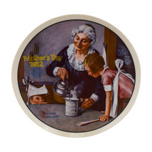 """Norman Rockwell Plate by Knowles """"The Cooking Lesson"""" Mothers Day (1982)... - $4.95"""