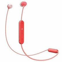 Sony WI-C300 Wireless behind-the-neck style In-ear Bluetooth Headphones Red New - $45.02