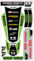 TRIM KIT GREEN WPS UNIVERSAL FOR FULL SIZE MOTORCYCLES D'cor Visuals - $54.95