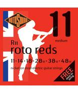 RotoSound Guitar Strings Electric Roto  Reds Nickel Regular 11-48 - $9.99