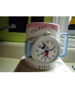Mickey Mouse Time Enescoware Ceramic Blue Mug nib - $50.00
